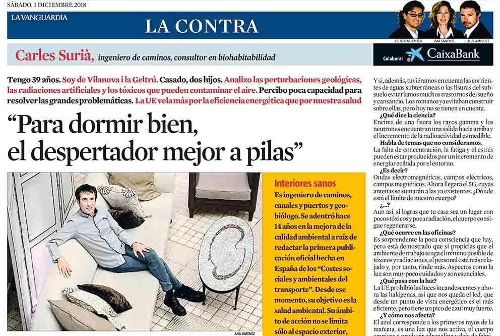 La Vanguardia entrevista Carles Surià en La Contra