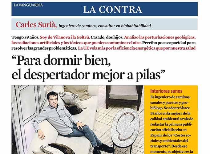 Carles Surià a La Contra de La Vanguardia