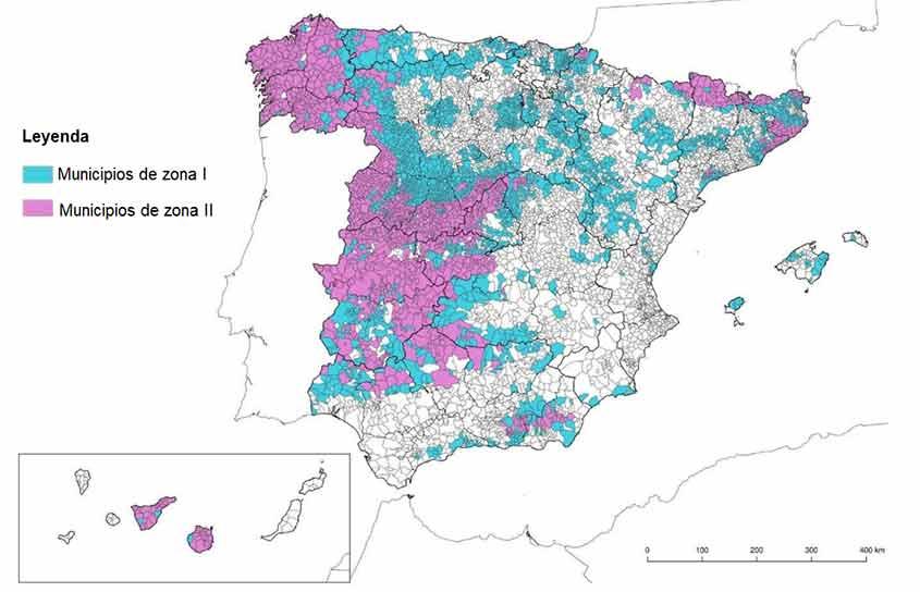 mapa gas radó CTE