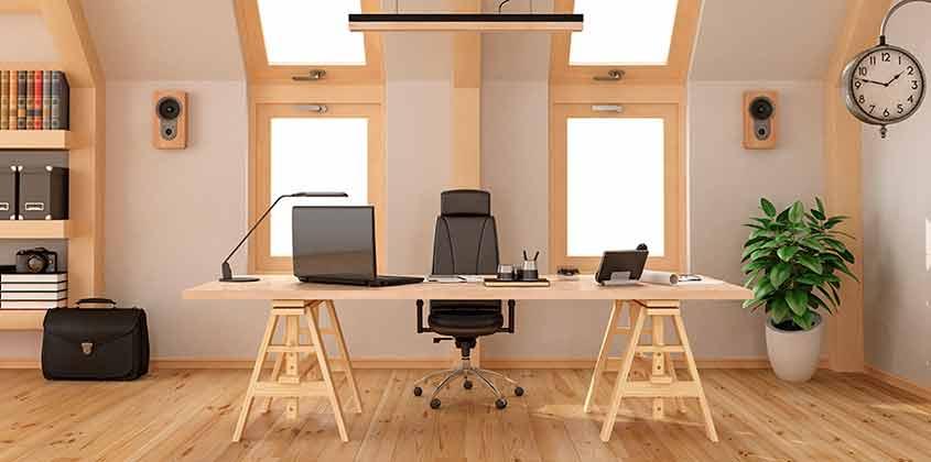 Una oficina de fusta
